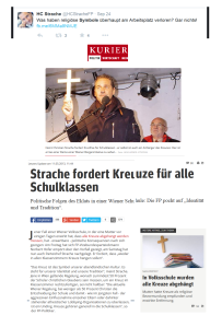 Strache - Religiöse Symbole am Arbeitsplatz 24-09-2014