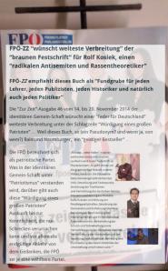 Zur Zeit Inseratenaffäre FPÖ