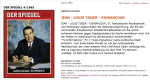 Freiheitlicher Code Patriotismus - Jean-Louis Tixier-Vignancour