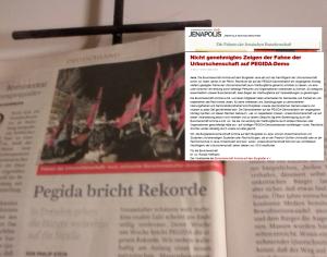 Pegida Burschenschaft FPÖ Fahne