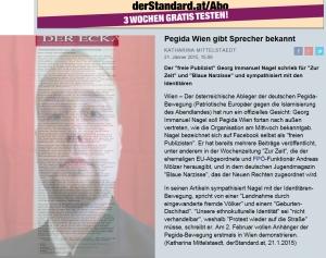 Der Standard - Nagel - Pegida - FPÖ