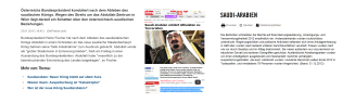Heinz Fischer - Abdullah und die beeindruckende Entwicklung Saudi-Arabiens