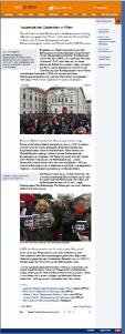 Mahnwache und Gedenken in Wien