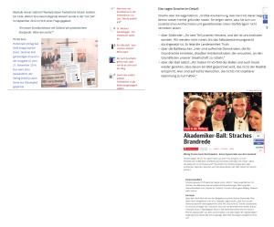 Straches Brandrede auf dem Akademikerball 2015 in der Hofburg