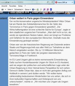 Viktor Orban weltoffen in Paris