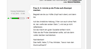 FPÖ Unzensuriert - Gabriele Heinisch-Hosek -  Bis zur Hüfte und dann los