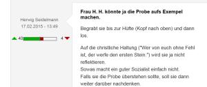 Gabriele Heinisch Hosek - FPÖ-Unzensuriert - Zustimmung zu Steinigung nimmt weiter zu 19-02-2015