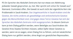 Saudi-Arabien - Gesetze gegen die Menschlichkeit