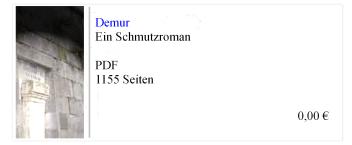 Demur - Ein Schmutzroman - Bernhard Kraut - 2015