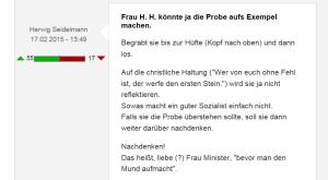 FPÖ Unzensuriert Herwig Seidelmann - Heinisch-Hosek - Screenprint 18-03-2015