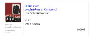 Prono ever geschrieben in Österreich - Roman - Bernhard Kraut