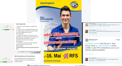 Zu Antisemitismus fällt RFS-Spitzenkandidaten geistige Onanie ein