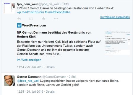 Flink mit dem Gericht ist FPÖ-NR Gerhard Darmann