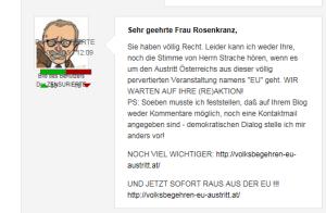 FPÖ - Demokratischen Dialog stelle ich mir anders vor