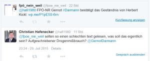 FPÖ Postings Darmann Hafenecker