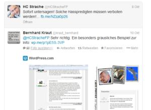 He-Chr Strache - Solche Hassprediten müssen verboten werden