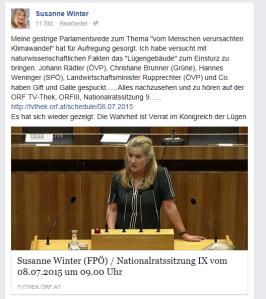 Spricht Susanne Winter im Parlament nach was Doc Ex auf FPÖ Unzensuriert vorschreibt