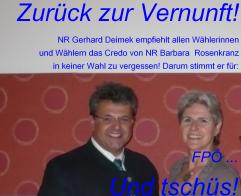 Und tschüs FPÖ - Zurück zur Vernunft