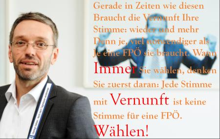 Vernunft schließt die Wahl einer FPÖ aus