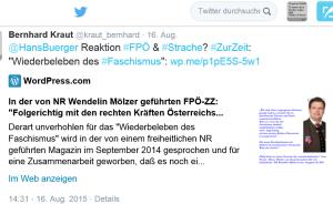 Hans Bürger Strache Sommergespräch 2015 FPÖ