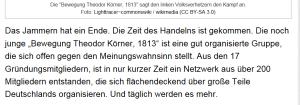 fpö bewegung theodor körner 1813