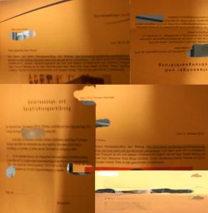 FPÖ verlangt Geld und Erklärungen - Überklebte Collage