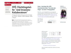 Invasionskollaborateure FPÖ unzensuriert Neger