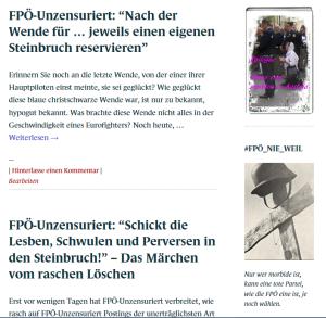 Schreibstaffel FPÖ - Steinbrüche nach der Wende