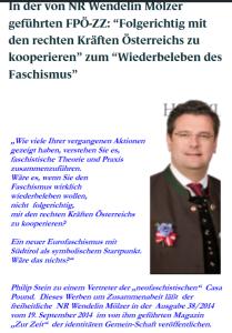 Schreibstaffel FPÖ - Wiederbeleben des Faschismus