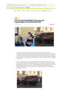 ÖVP - Militärfahrzeug FPÖ