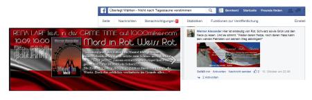 Mord in Rot Weiß Rot - FPÖ-Wahlplakat in Romanlänge von Werner Alexander