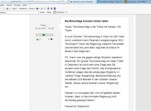 Peter_ unzensuriert fpö - Terroranschlag in Österreich