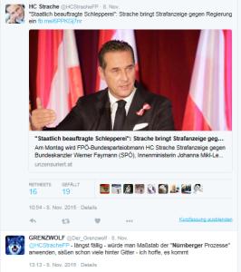 Grenzwolf - Strache - Nürnberger Prozesse