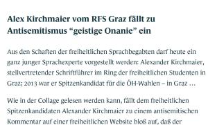Herbert Kickl - Antisemitismus hat in der FPÖ keinen Platz