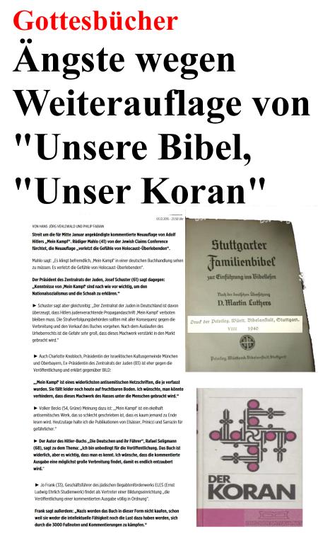 Gottesbücher - Ängste vor Weiterauflage von Koran und Bibel