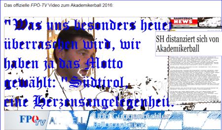FPÖ Herzensangelegenheit Südtirol Akademikerball