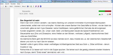FPÖ unzensuriert - Krummnasen-Banksystem