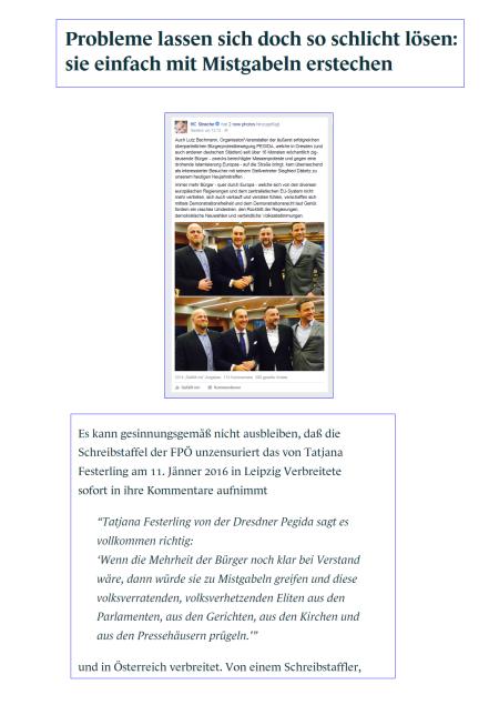 Strache - Gudenus - Bachmann und die Probleme lösen Mistgabeln