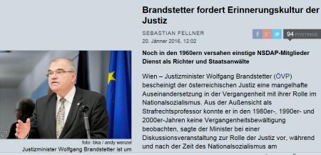 Facebook und Vergangenheit - Wolfgang Brandstetter auf sicherem Boden