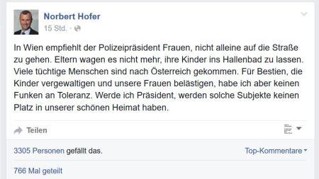 Norbert Hofer verspricht und droht den Subjekten - was er nicht halten kann