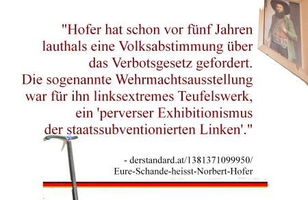 Bundespräsidentenwahl - Norbert Hofer - Kandidat Mehr Flagge zeigen geht nicht