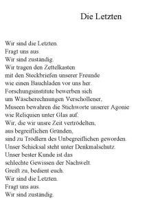 Hans Sahl Die Letzten