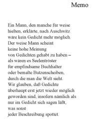 Hans Sahl Memo