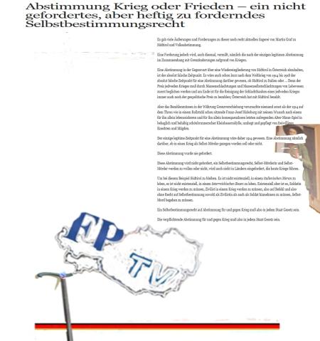 Südtirol- Saint Germain der FPÖ
