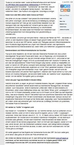 Aus der Bewerbungsmappe Werner Grotte für Satiriker und Helfer