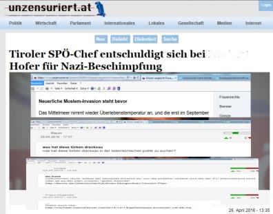 Die heutige identitäre Partei im Geiste Hofers ist keine Nazi-Partei aber bietet seit dem Nazi-Untergang nichts Neues