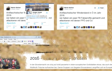 Identitäre Partei FPÖ mit ihren identitären Buben