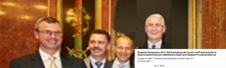 Odin Wiesinger mit seinen Präsidenten im Parlament