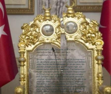 Recep Tayyip Erdogan Gedicht für seinen Stuhl