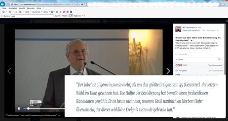 Norbert Hofer - für Johann Herzog unter Applaus größtes Ereignis seit 45